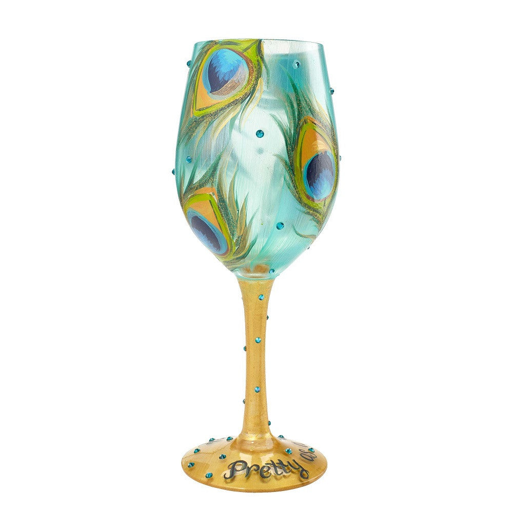Pretty as a Peacock Wine Glass by Lolita®-Lolita Wine Glasses.com