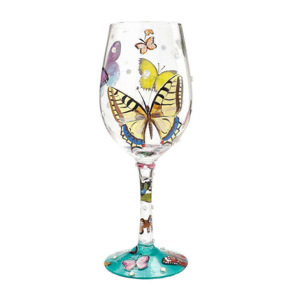 Butterfly Wishes Wine Glass by Lolita®