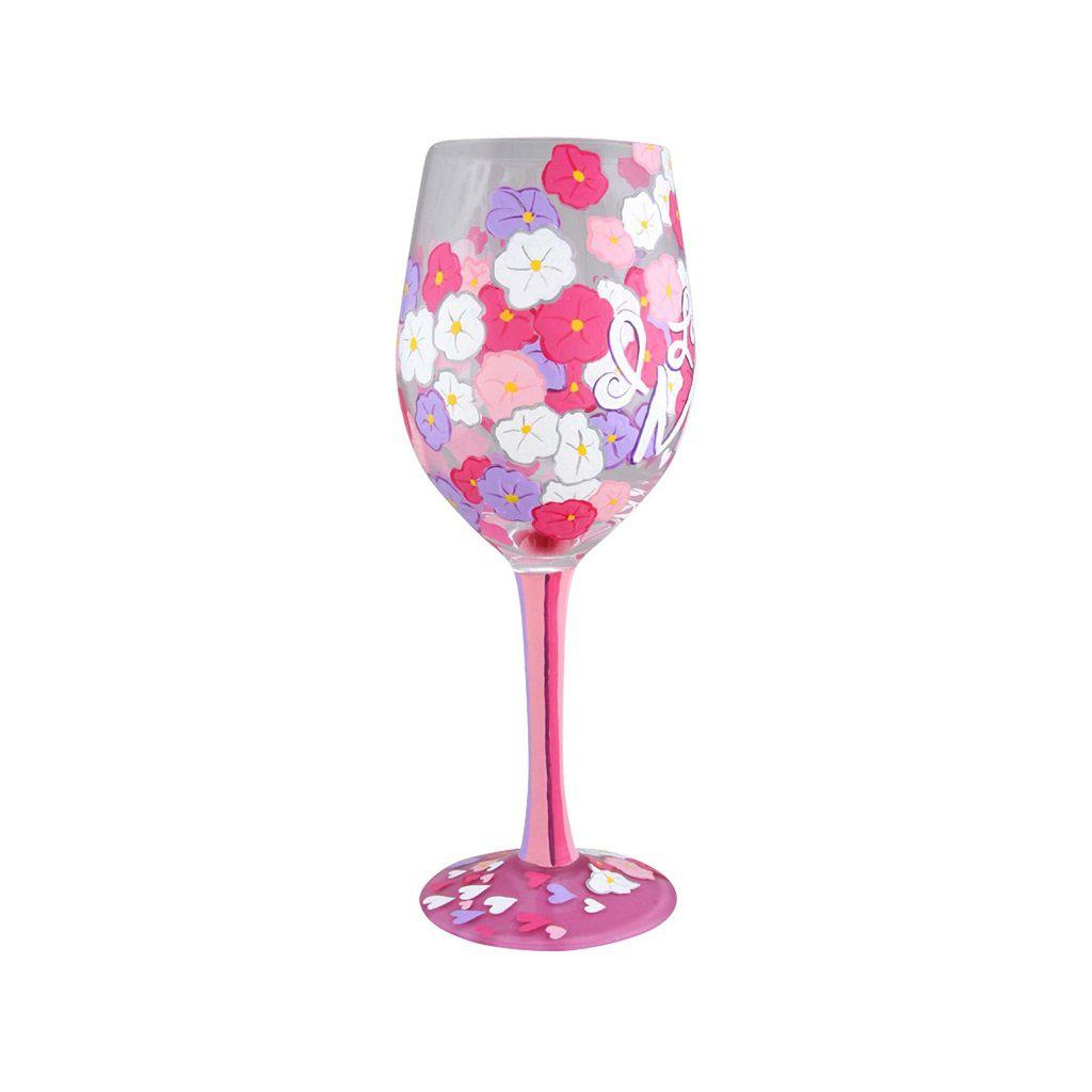 I Love You Mom 2 Wine Glass by Lolita®-Lolita Wine Glasses.com