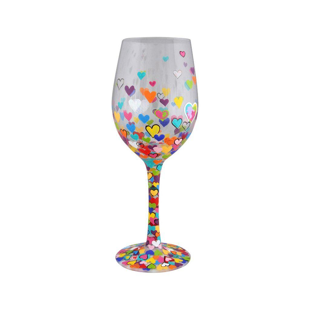Hearts-A-Million Wine Glass by Lolita®-Lolita Wine Glasses.com