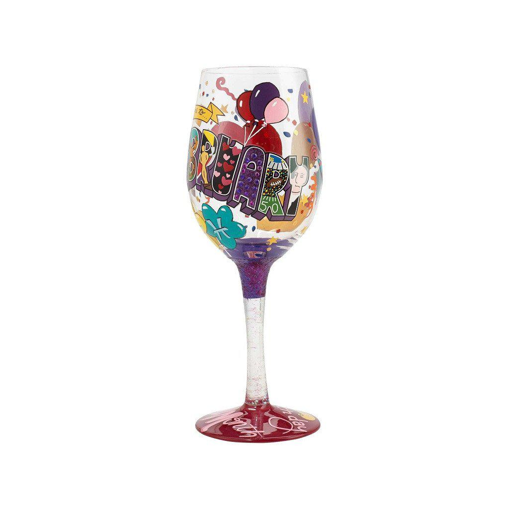 February Birthday Wine Glass by Lolita®-Lolita Wine Glasses.com