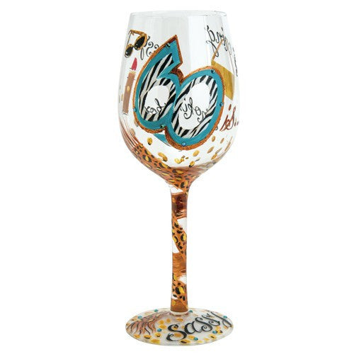 60 and Sassy Wine Glass by Lolita®