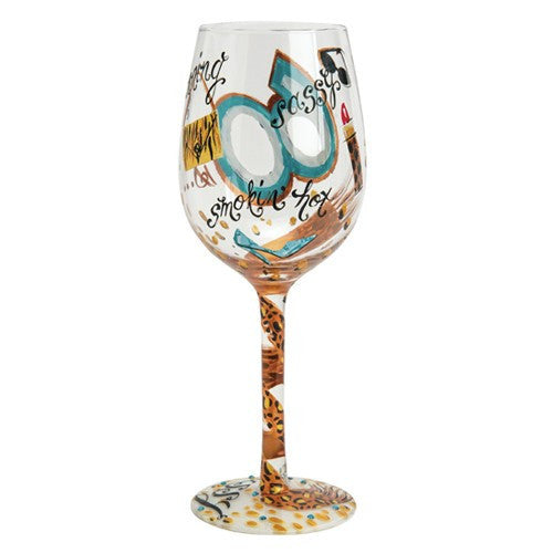 60 is Sassy Wine Glass by Lolita®