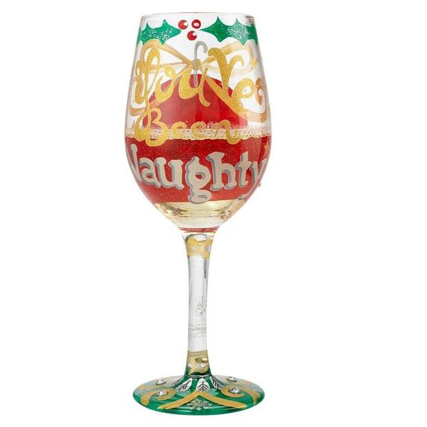 Naughty Christmas Wine Glass by Lolita®