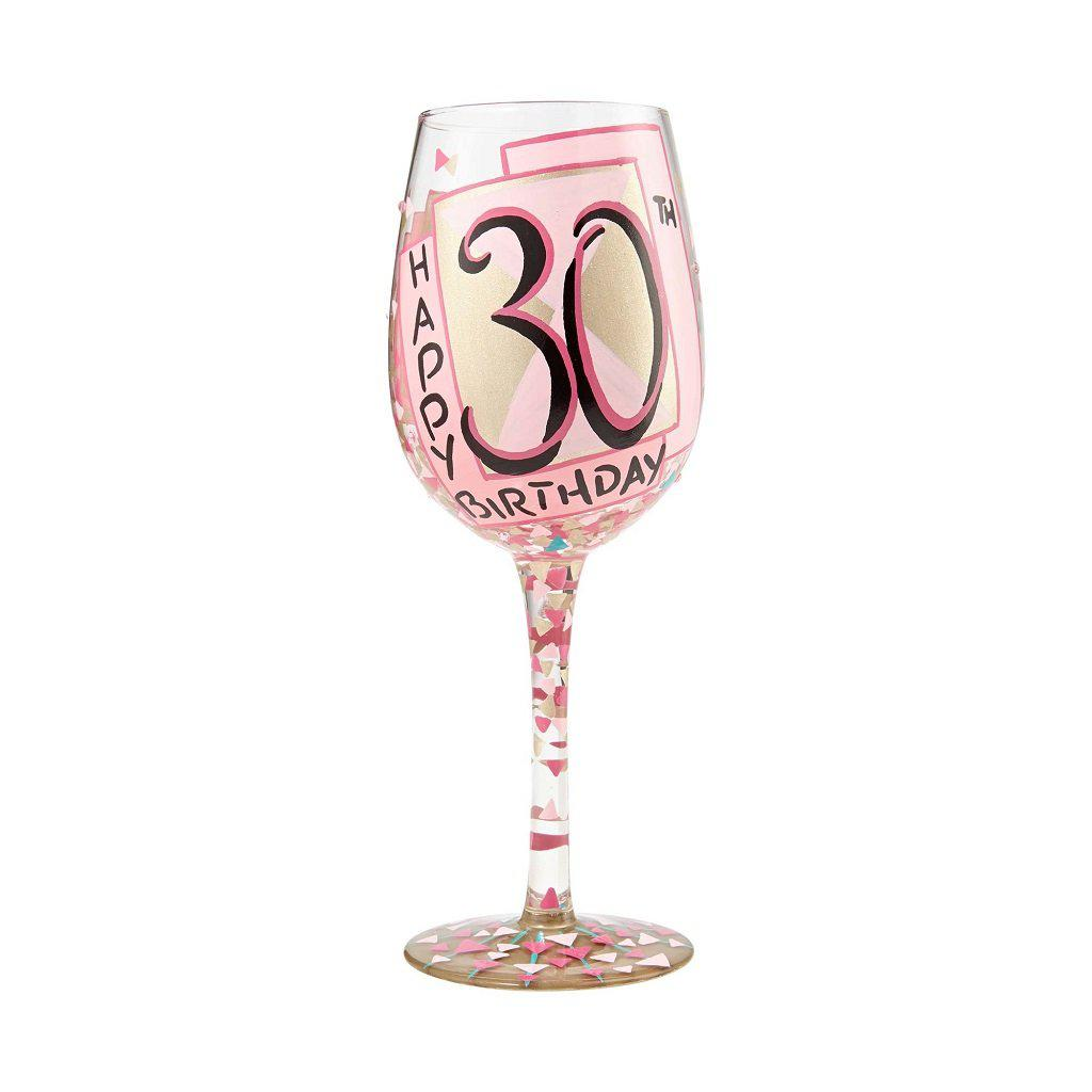 30th Birthday Wine Glass By LolitaR Lolita Glasses