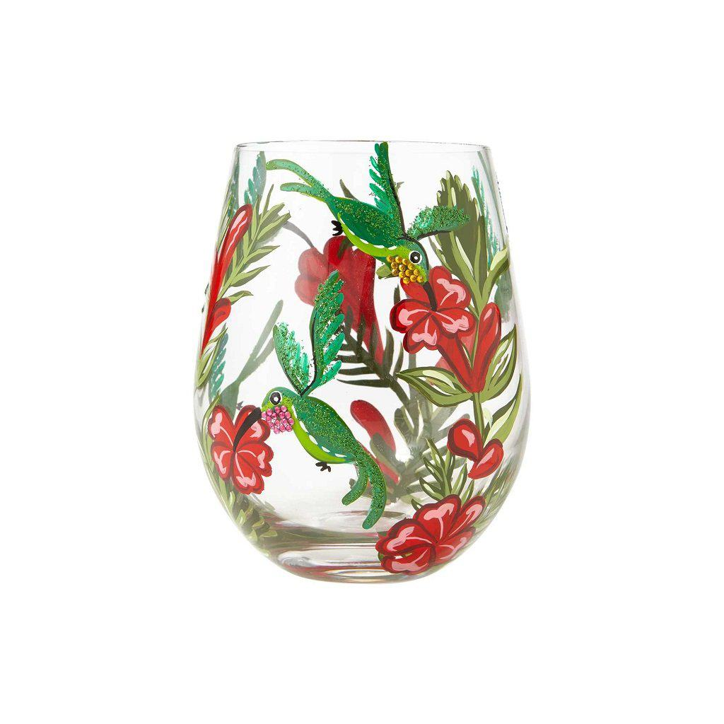 Hummingbird Stemless Wine Glass by Lolita®-Lolita Wine Glasses.com