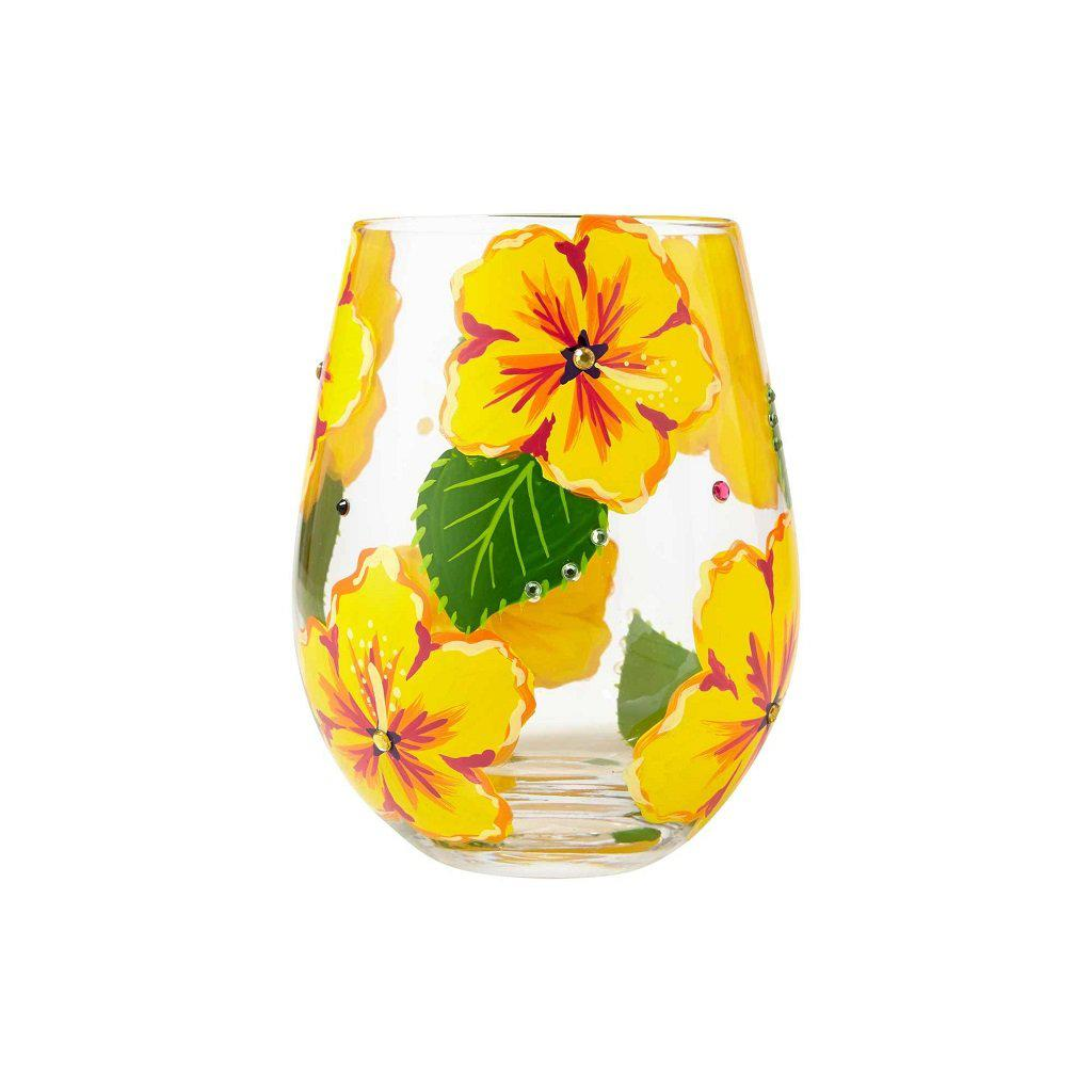 Hibiscus Stemless Wine Glass by Lolita®