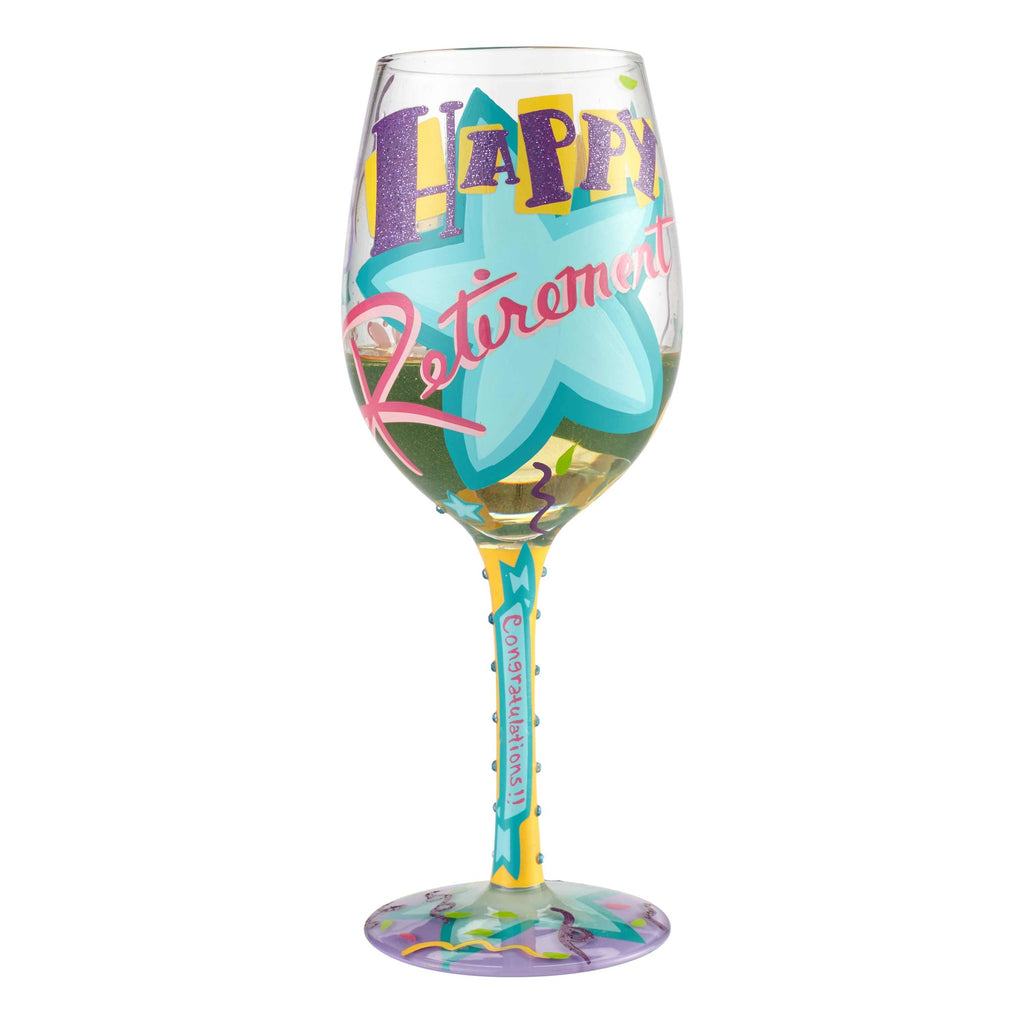 Happy Retirement Wine Glass by Lolita® - 2018