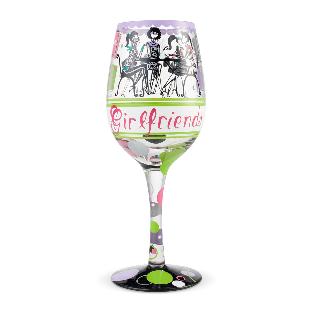Girlfriends Together Wine Glass by Lolita®