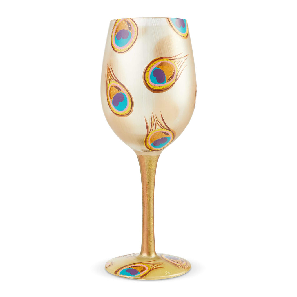 Golden Peacock Wine Glass by Lolita®