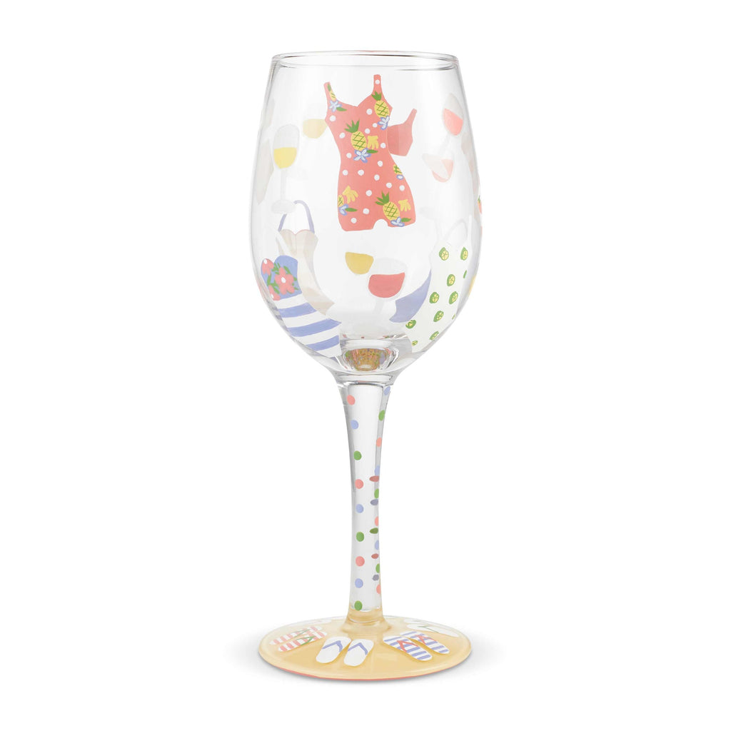 Cabana Cutie Wine Glass by Lolita®