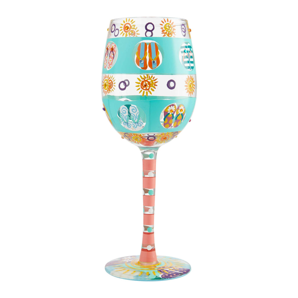 Flip Flop Days Wine Glass by Lolita®