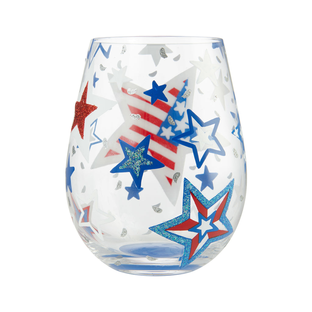 Home Of The Brave Stemless Wine Glass by Lolita®