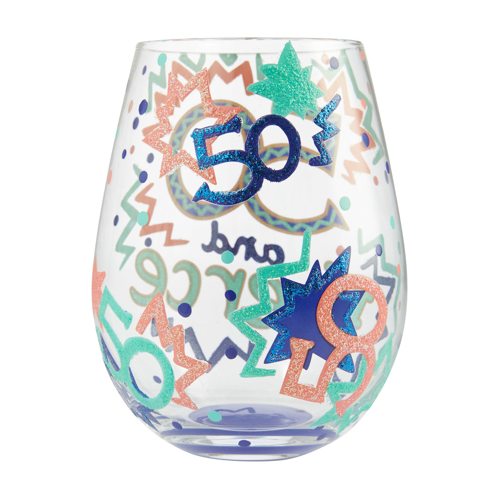 50 and Fierce Stemless Wine Glass by Lolita®