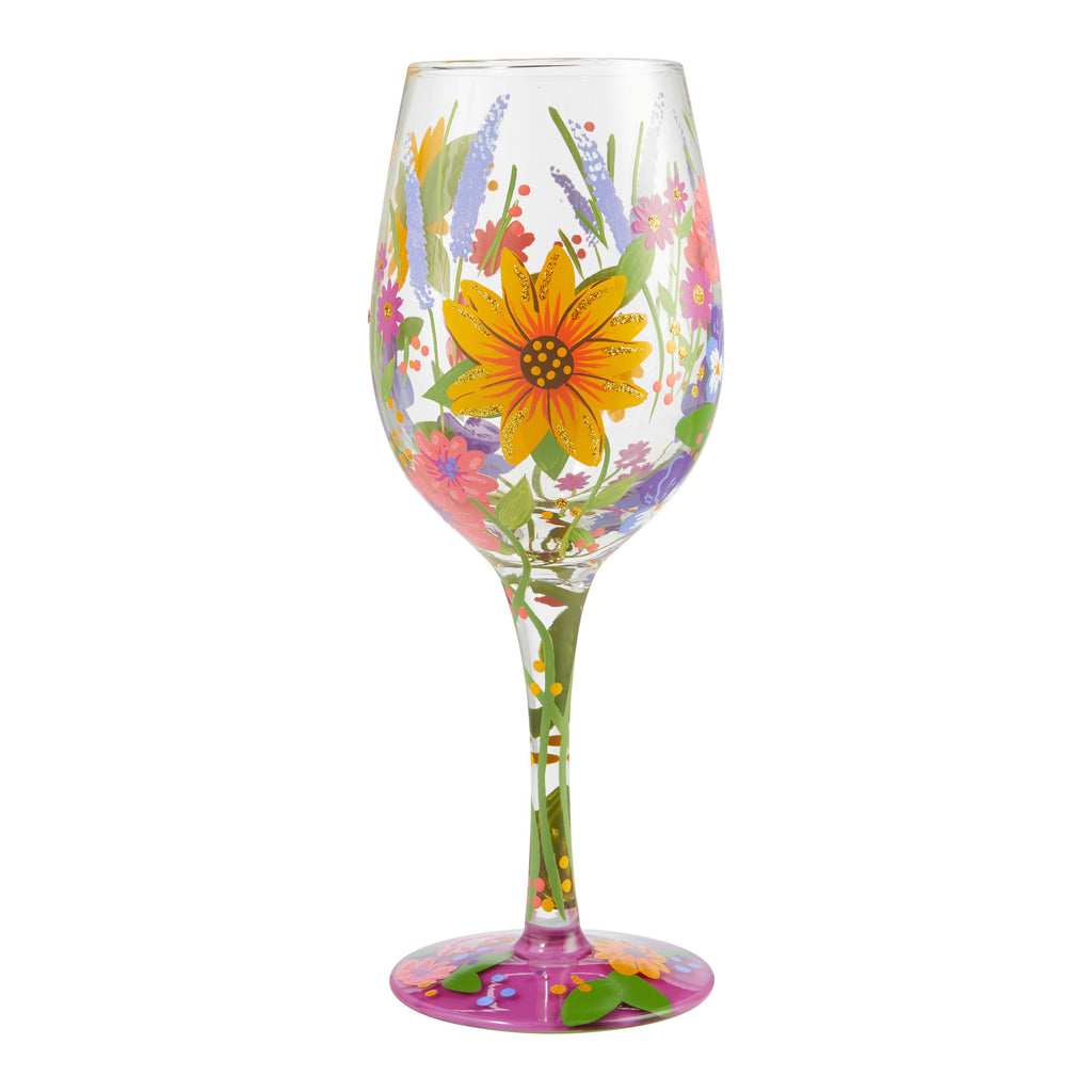 Wine In The Garden Wine Glass by Lolita®