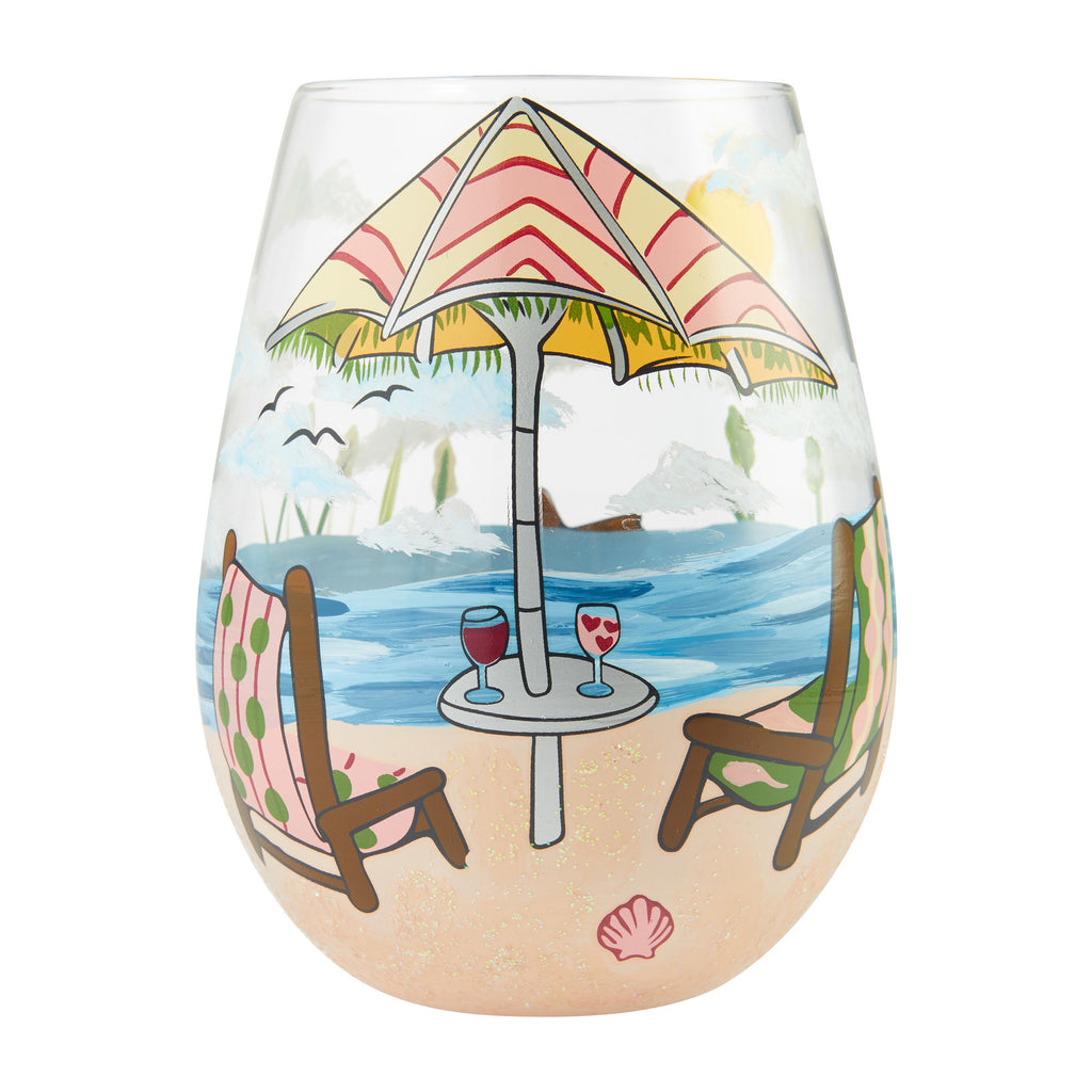 Beach Please Stemless Wine Glass by Lolita®