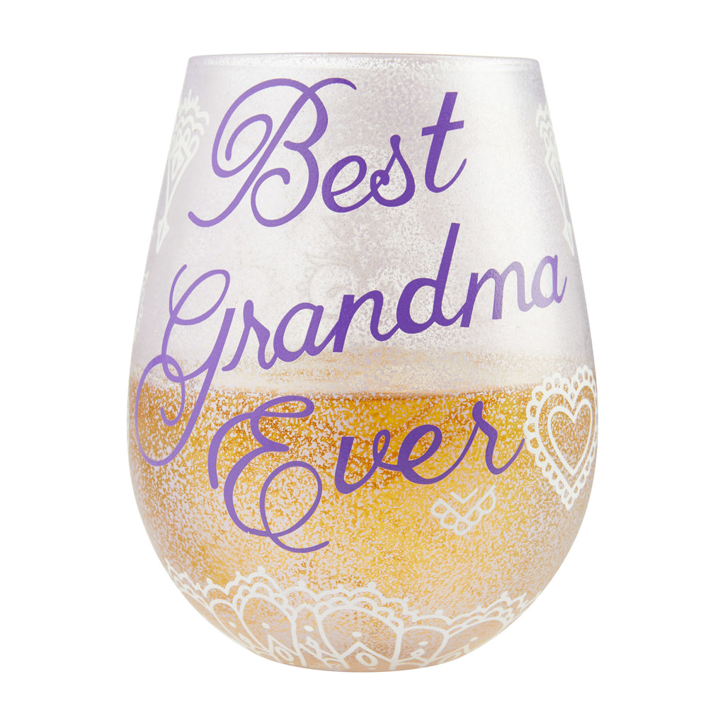 Best Grandma Ever Stemless Wine Glass by Lolita®