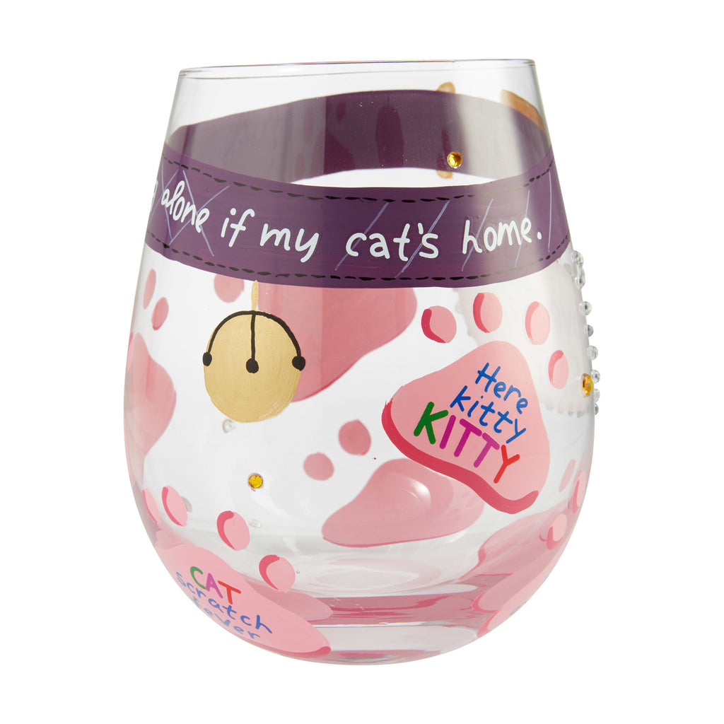 Love My Cat Stemless Wine Glass by Lolita®
