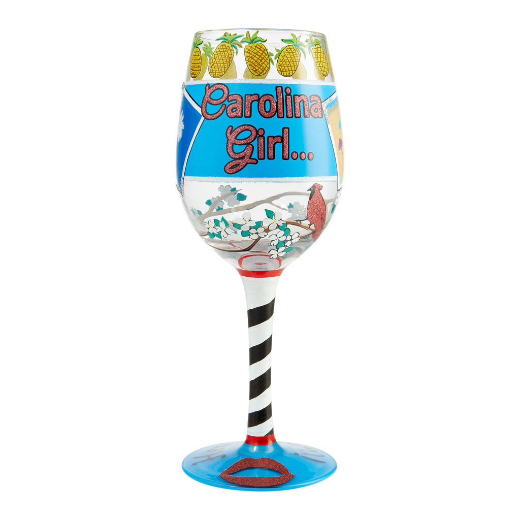 Carolina Girl Wine Glass by Lolita®