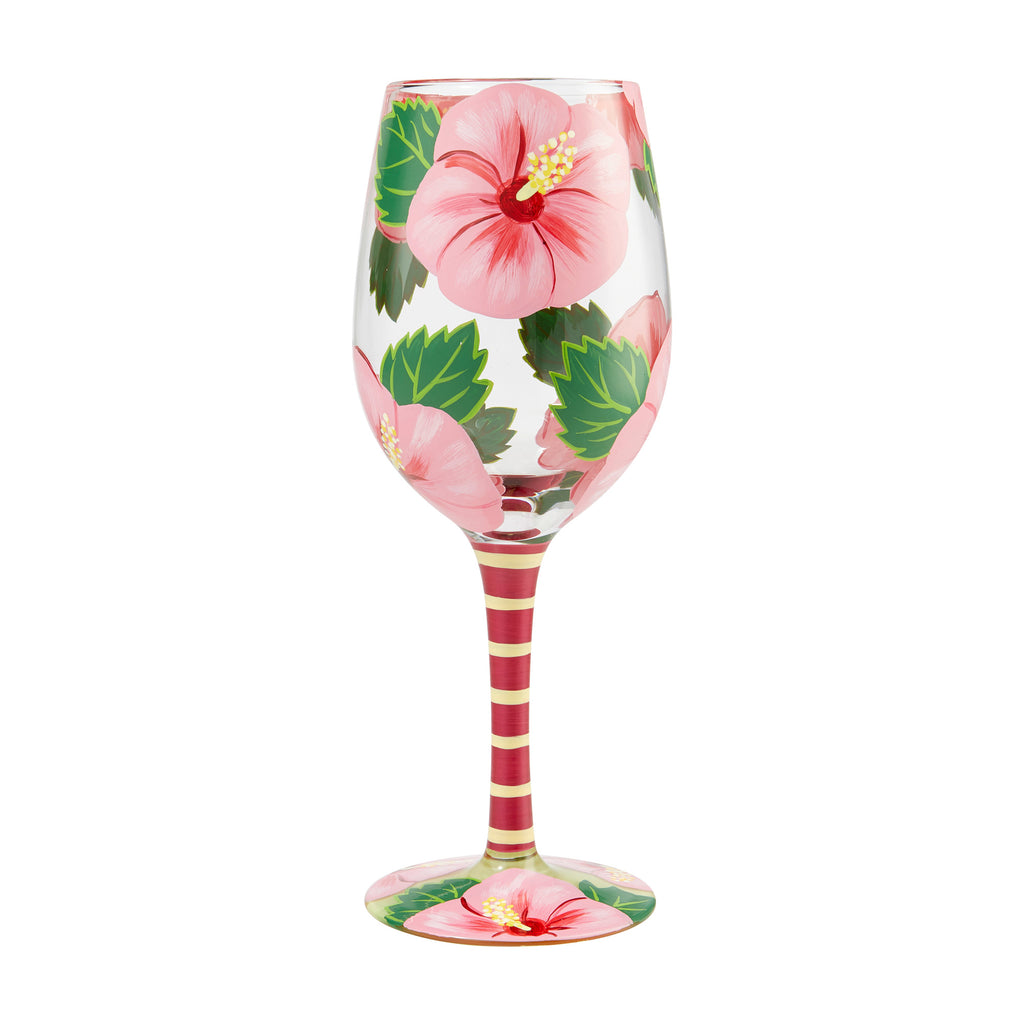 Hibiscus Dreams Wine Glass by Lolita®