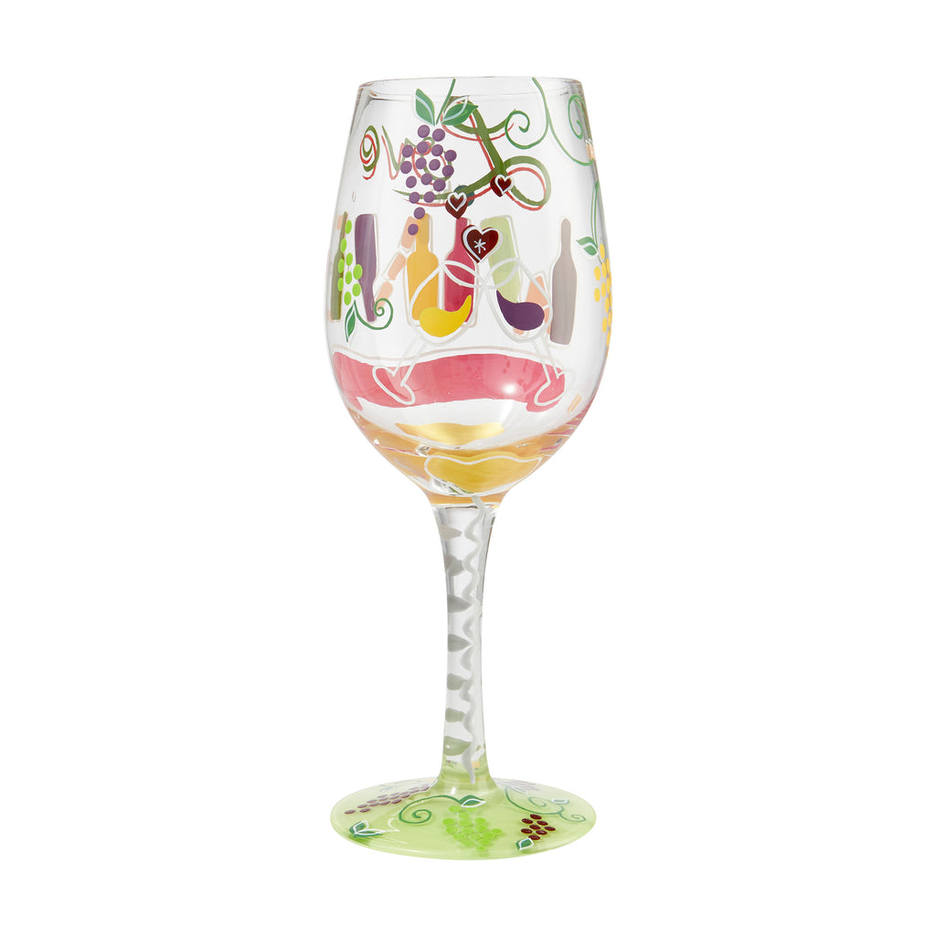 Love the Wine You're With Wine Glass by Lolita®
