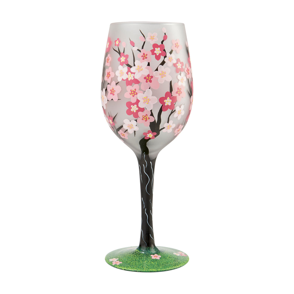 Cherry Blossoms Wine Glass by Lolita®