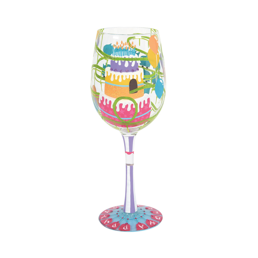 Birthday Roller Coaster Wine Glass by Lolita®