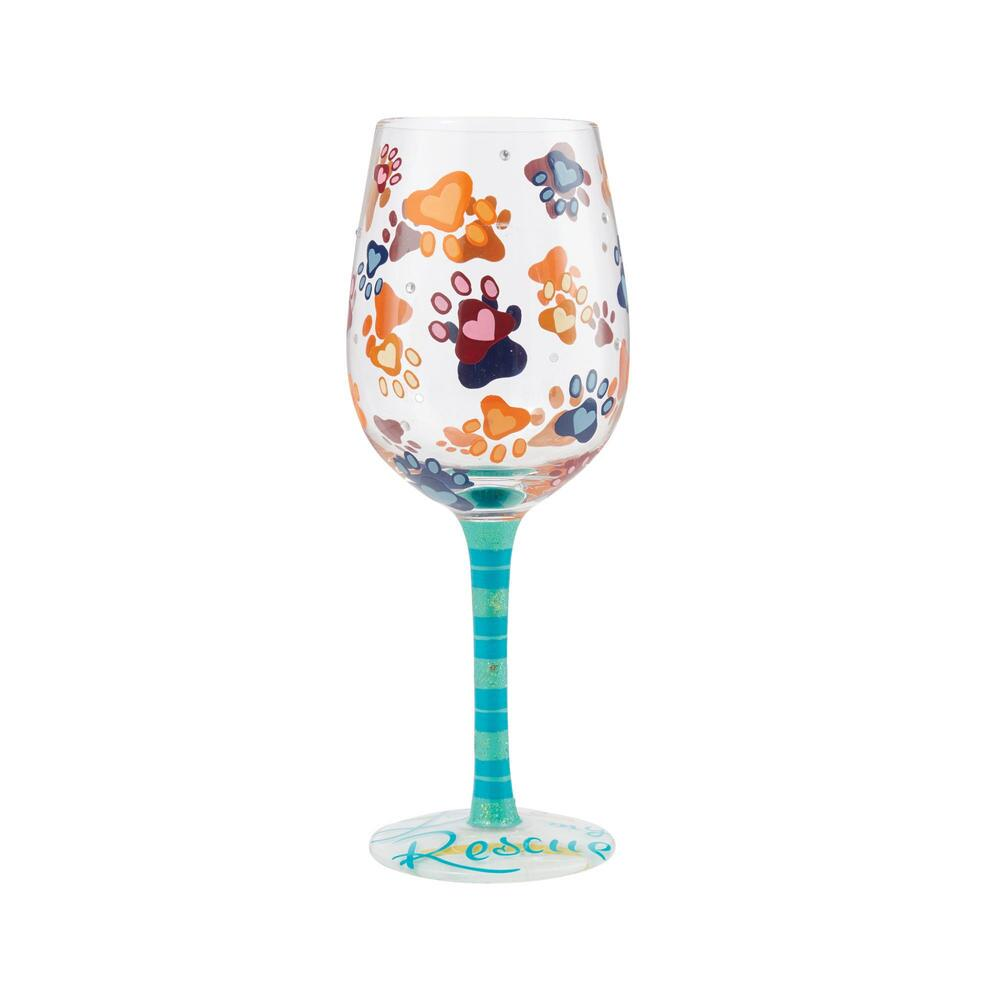 Love My Rescue Wine Glass by Lolita®