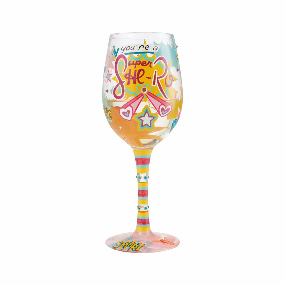 Super She-ro Wine Glass by Lolita®