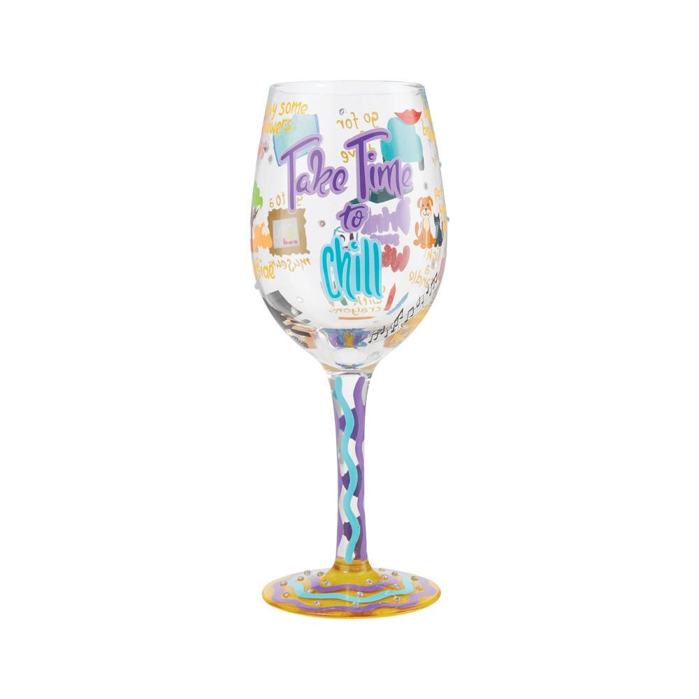 Take Time To Chill Wine Glass by Lolita®