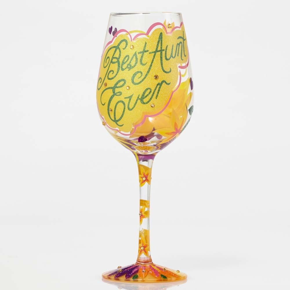 Best Aunt Ever Wine Glass by Lolita®