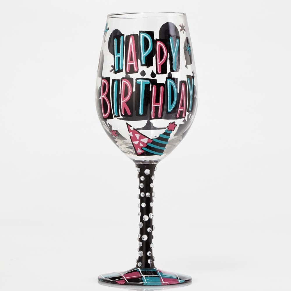 Happy Day Wine Glass by Lolita®