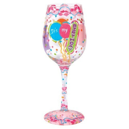 It's My Birthday Wine Glass by Lolita®