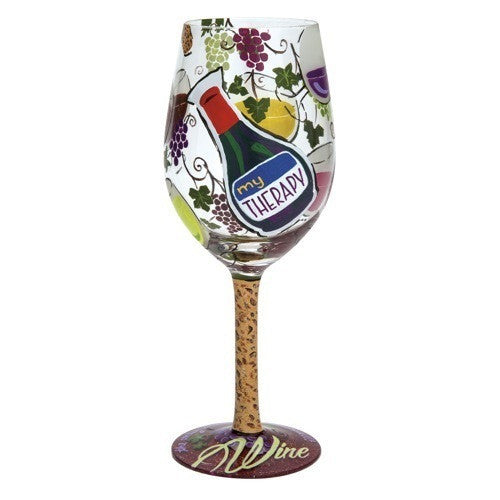 My Therapy Wine Glass by Lolita®