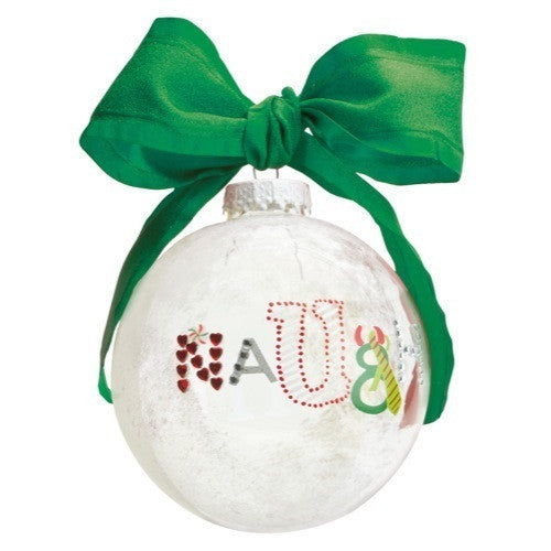 Naughty and Nice Ball Ornament by Lolita®