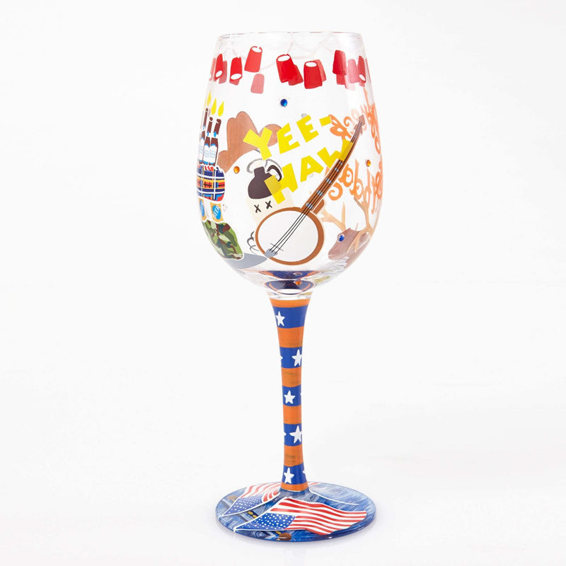 Redneck Birthday Wine Glass by Lolita®