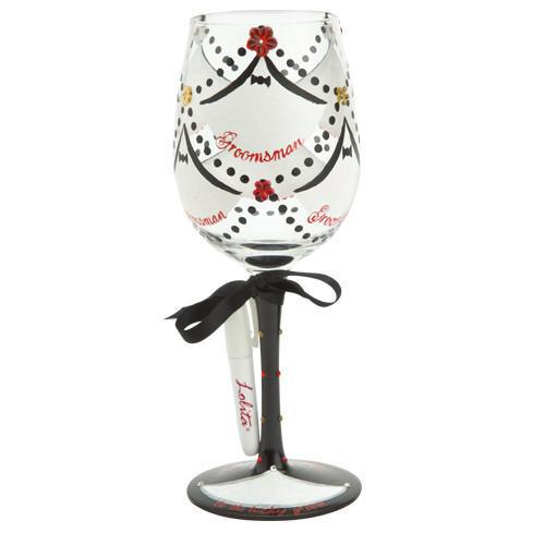 "From His Wedding Party ""Personalize-It"" Wine Glass by Lolita®"