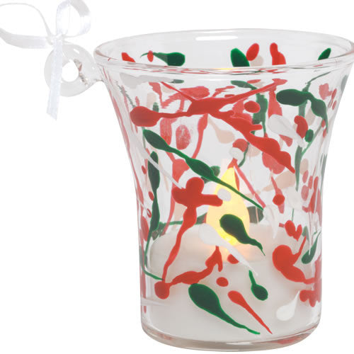 Mini-candle Holiday Splash Ornament by Lolita®
