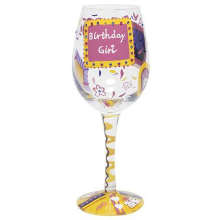 Birthday Girl Wine Glass by Lolita®