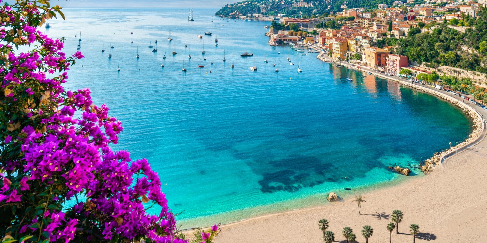 Coastal View of The French Riviera