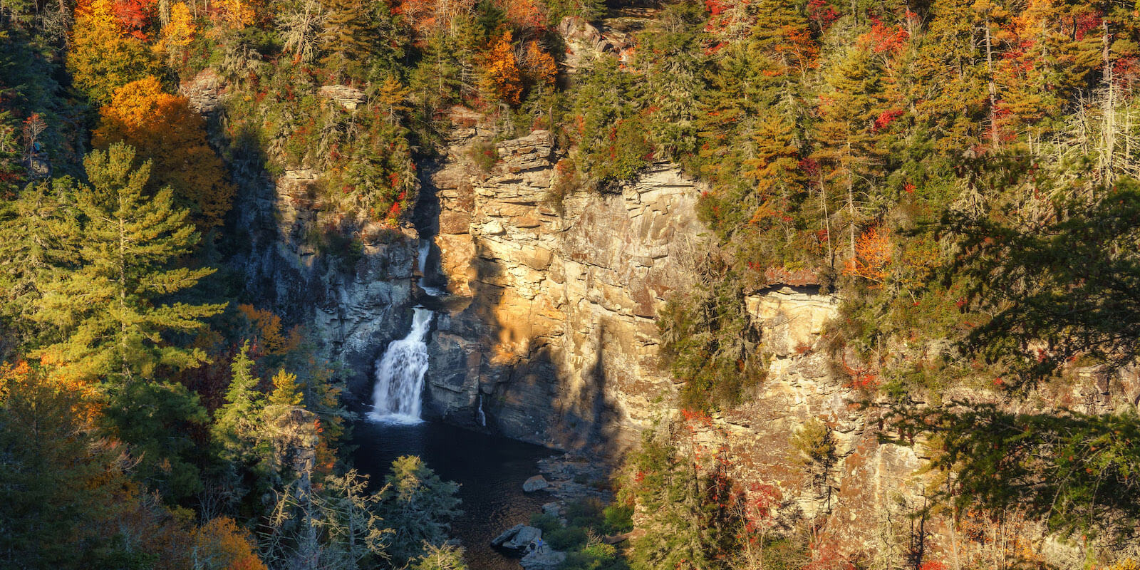 Linville Falls at Autumn from Erwin's View