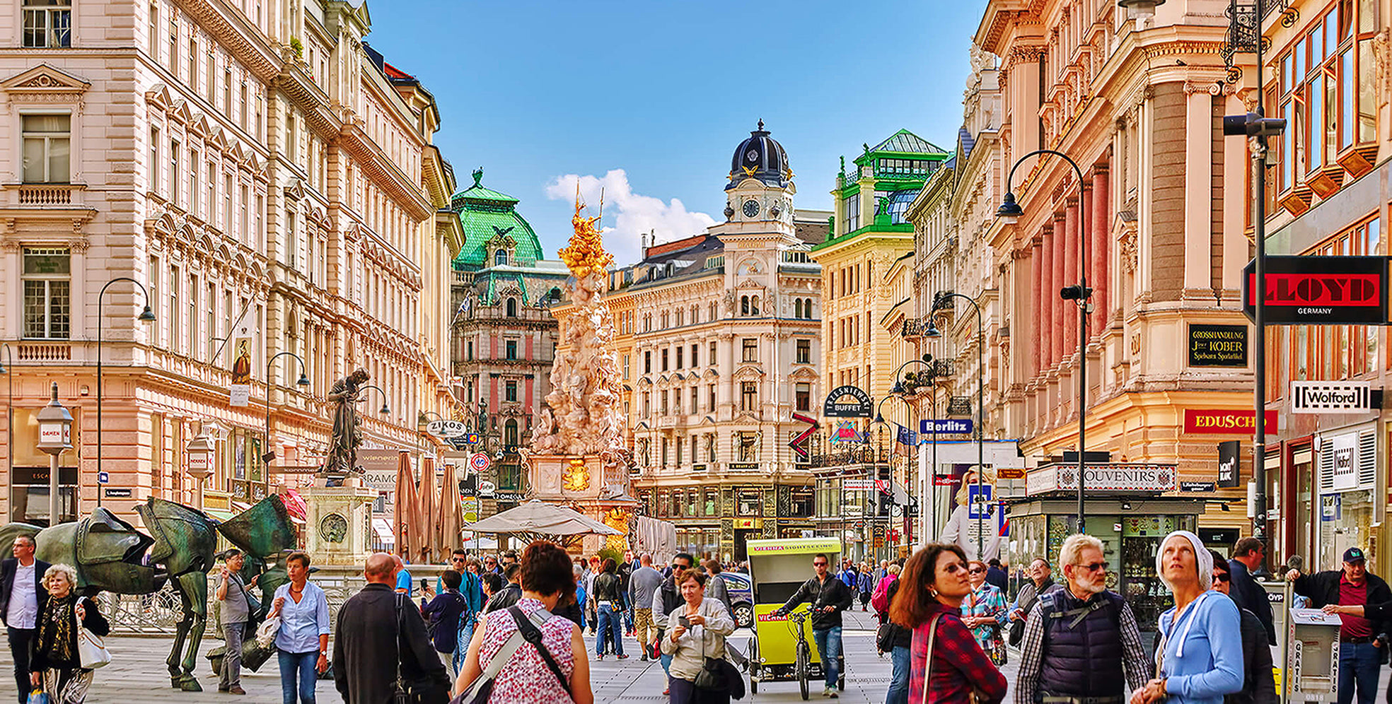 Tourists in Vienna, Austria