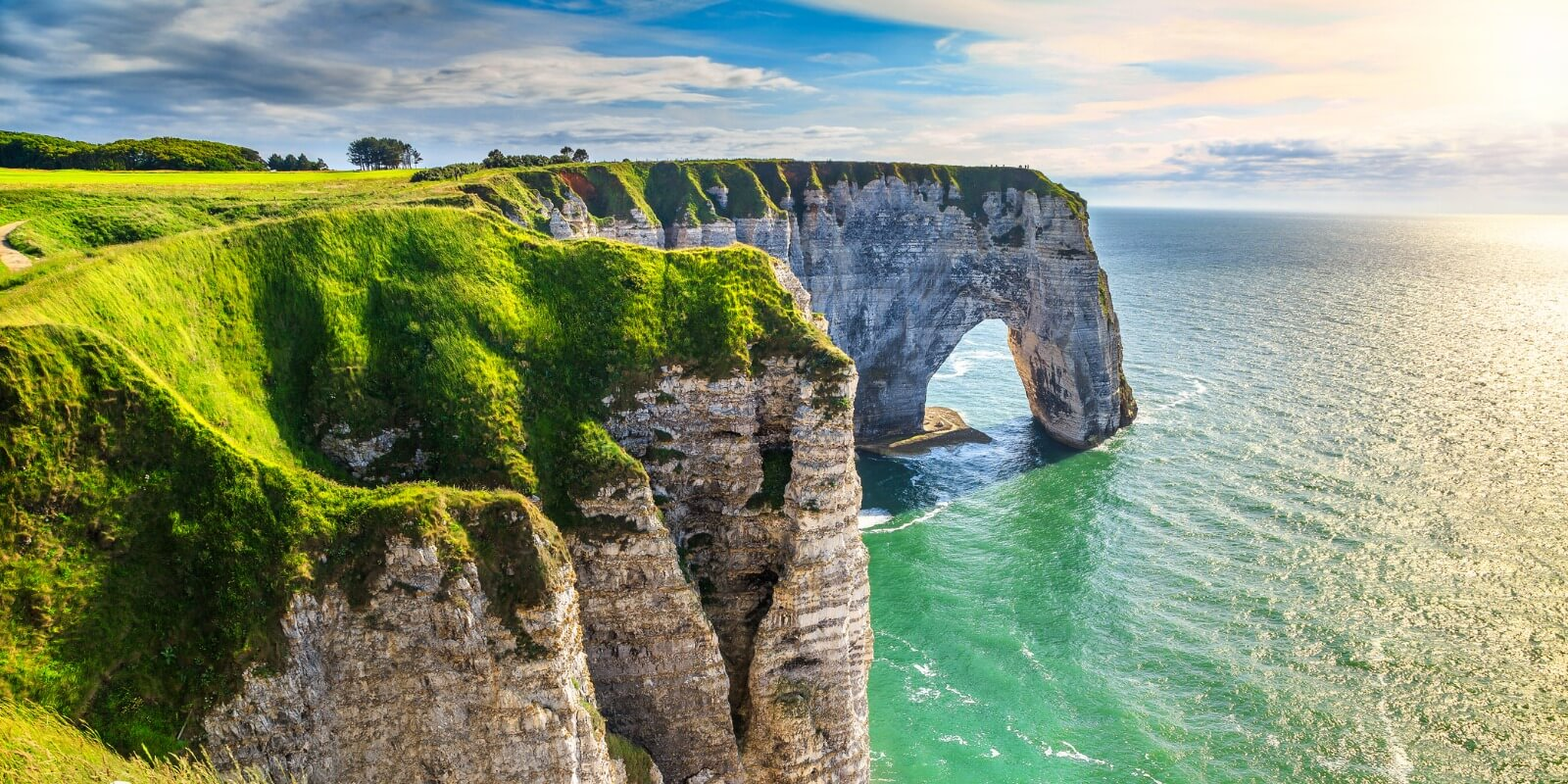 Cliffs at Aval of Etretat, Normandy, France, Europe