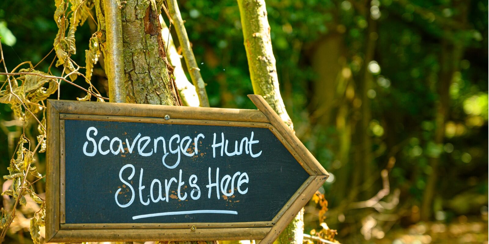 Scavenger Hunt Starting Sign
