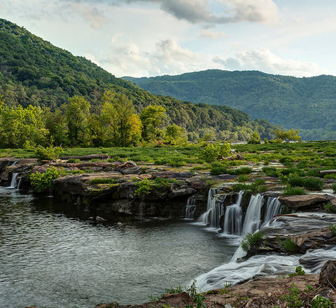 Waterfall at New River Gorge National Park