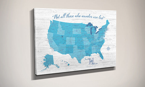 Anniversary Map USA Side View