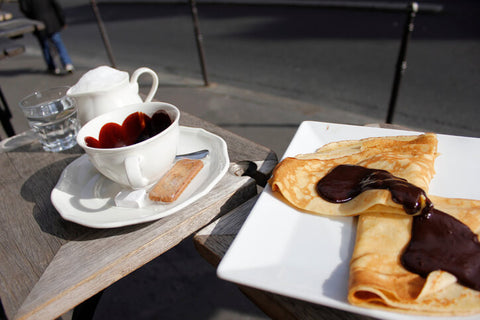 Crepe Breakfast at a Paris Cafe