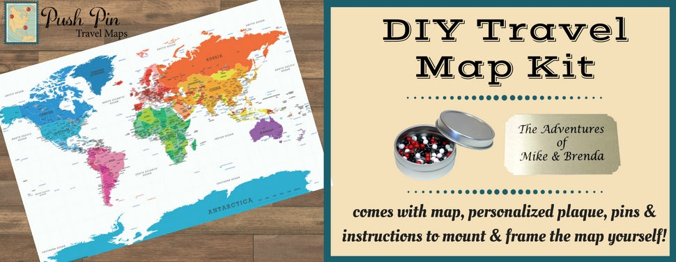 Diy colorful world push pin travel map kit ebay create your very own push pin travel map to track your travels with our diy colorful world map kit this map of the world with its bright eye popping gumiabroncs Image collections