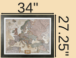 Framed Travel Map Dimensions