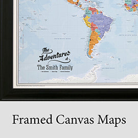 Framed Canvas Maps